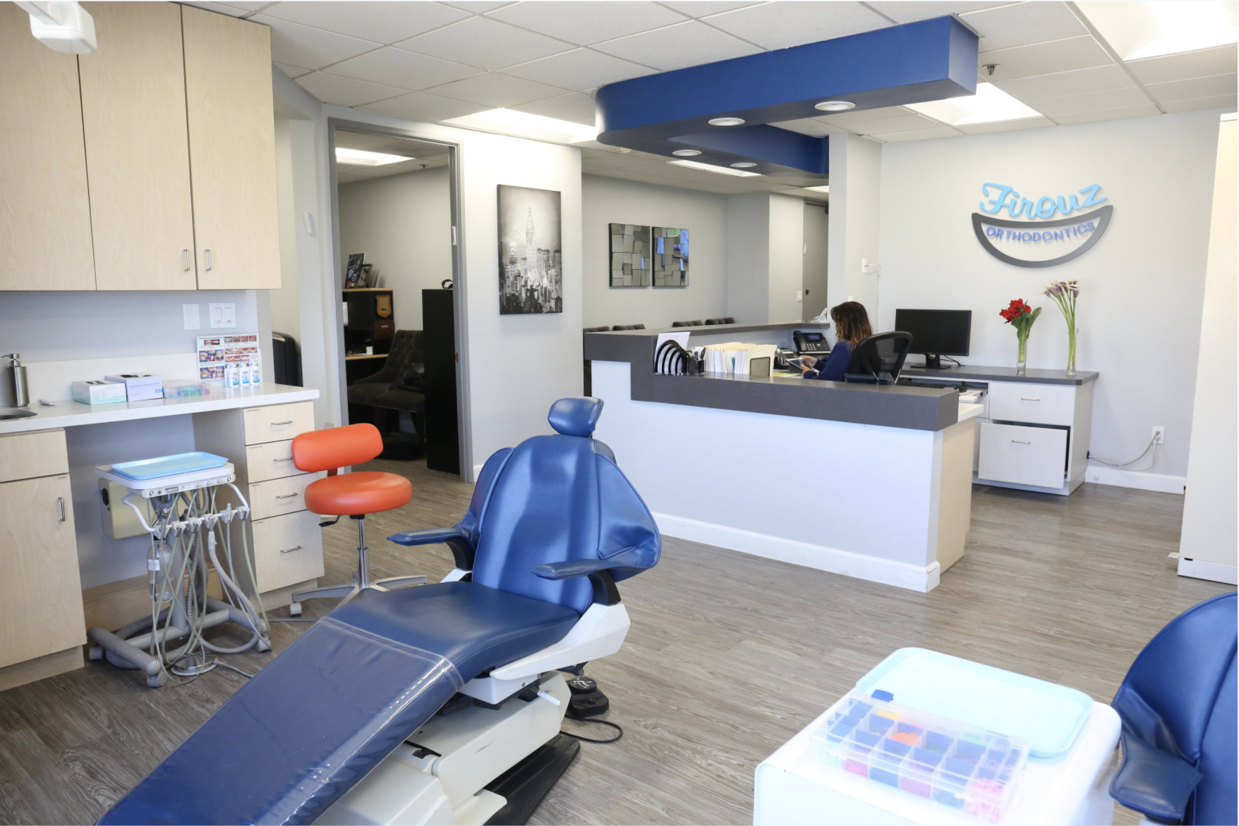 Orthodontics cleaning and consult area.