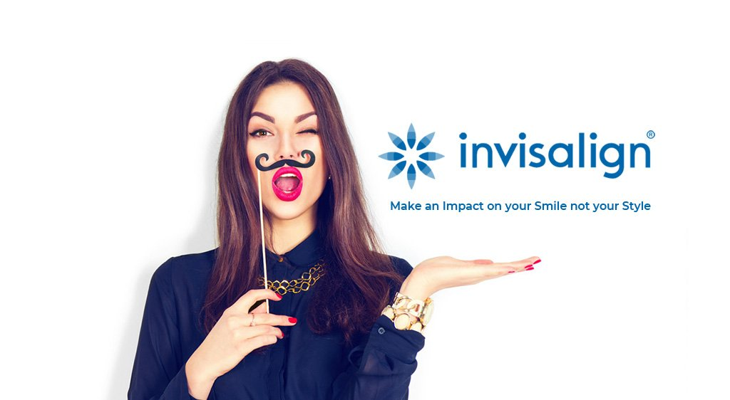Invisalign banner with Victoria Justice