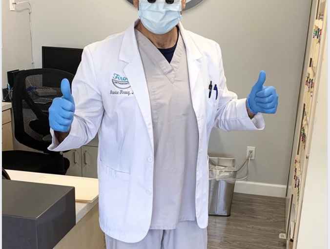 Doctor Firouz has his PPE on and is ready to treat patients safely!